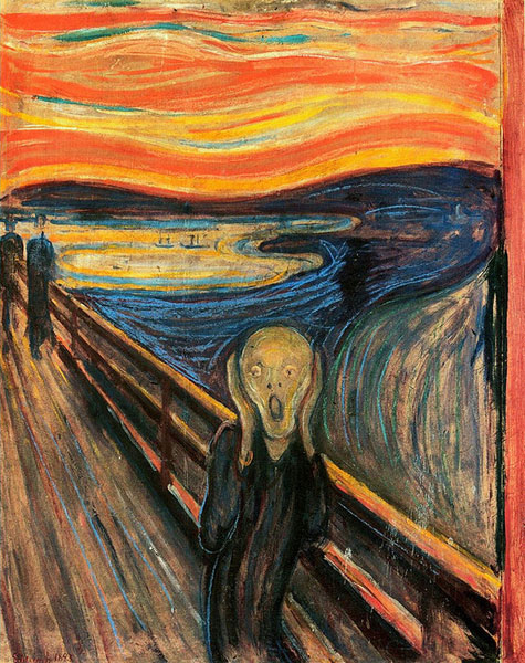 El grito (Scream) de Munch recuerda la máscara de Scream de Craven