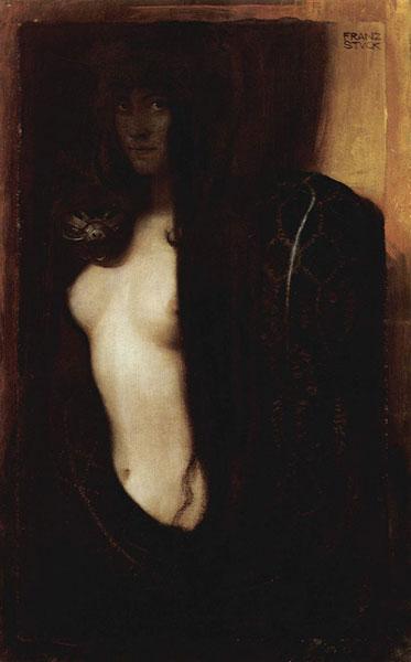 El pecado, 1893. Franz von Stuck: simbolismo y Art Nouveau