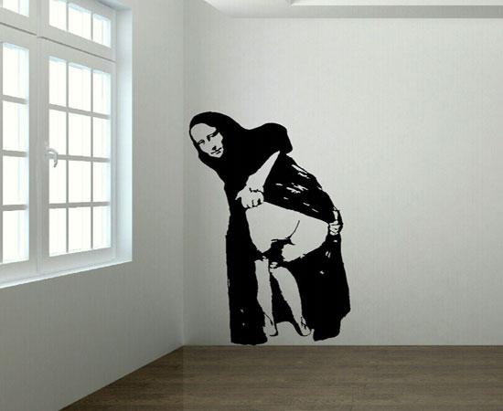 Mona Lisa mooning por Banksy