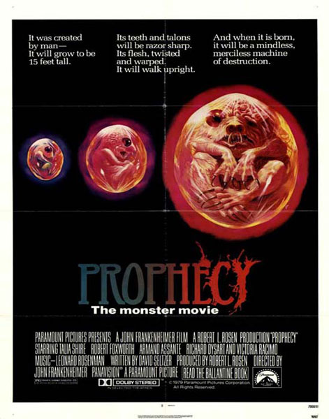 Prophecy, 1979. Inquietudes ecológicas de Frankenheimer: la vimos en los ochenta en el Autocine Star