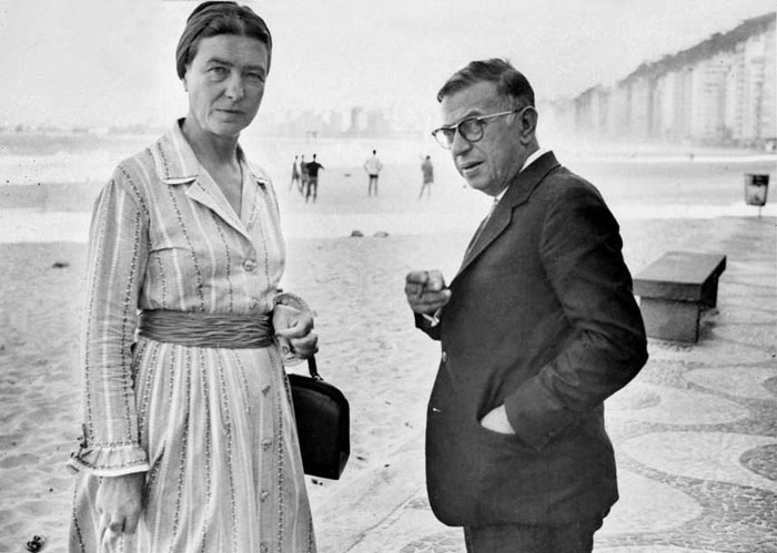 Beauvoir y Sartre en modo Travis Bickle (Taxi Driver): Are you talking to me?