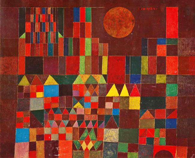 Sol y castillo, Klee (1928)