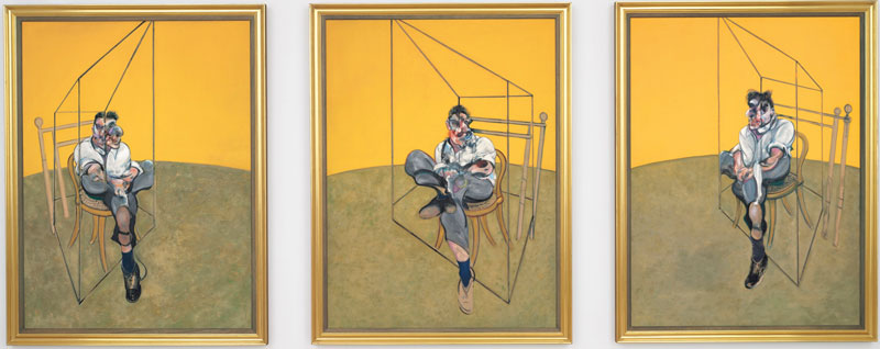 Three studies of Lucian Freud, Francis Bacon, 1969