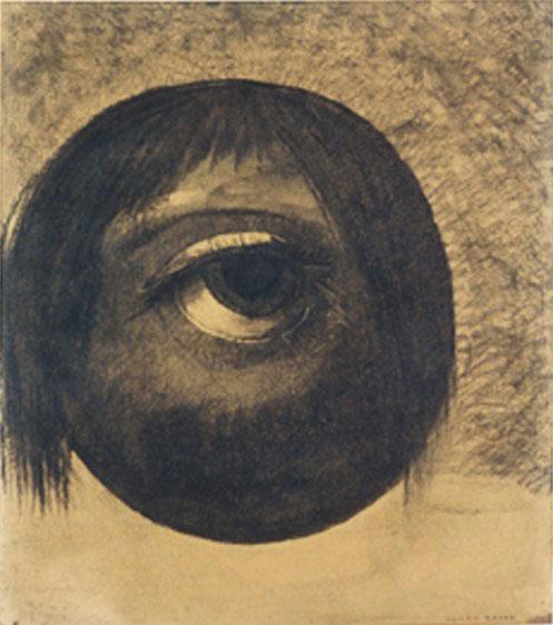 """""""Visión/El ojo"""" Odilon Redon, 1881"""