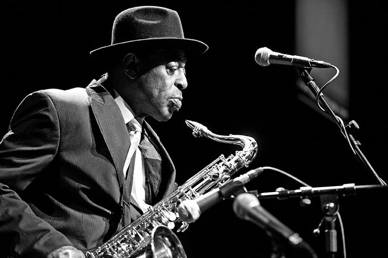 Archie Shepp (Esther Cidoncha, 2011). Jazzpassage, Reithalle, Offenburg