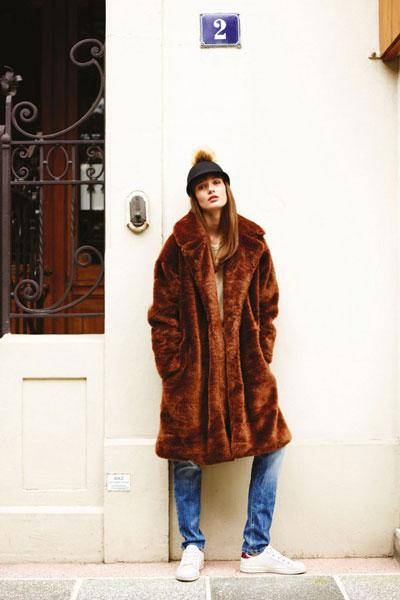 """El """"osado"""" abrigo."""