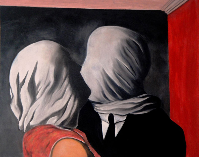 Los amantes (Magritte, 1928)