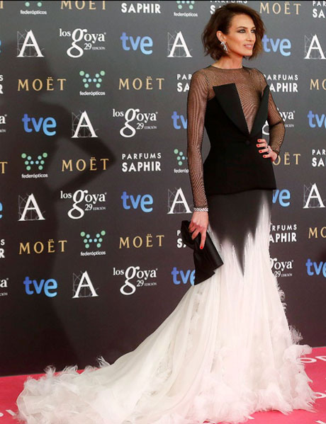 Nieves Álvarez en la Gala de los Goya 2015