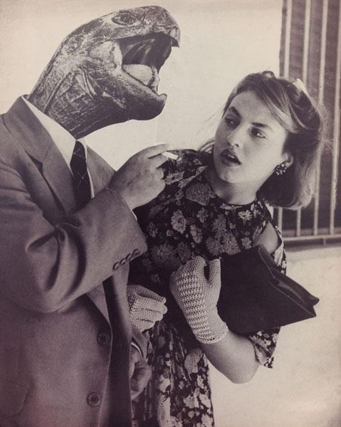 El hombre con cara de reptil de Grete Stern