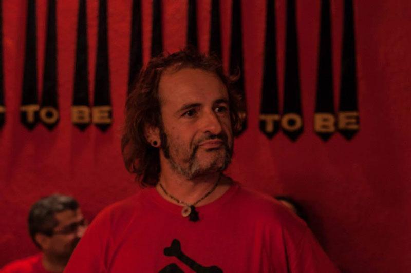 El escritor, editor y director de Canibaal, Ximo Rochera (Castellón, 1967)
