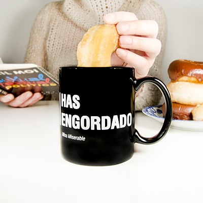 Has engordado, mug de Miss Miserable, en Curiosite.