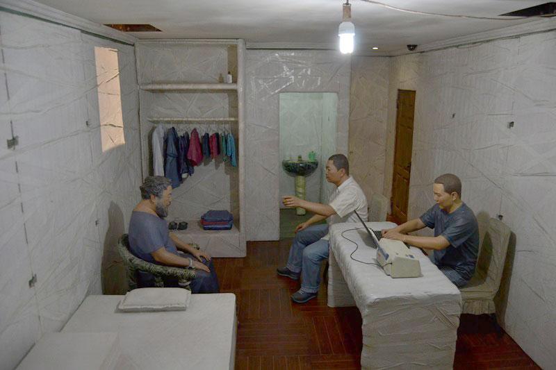 © Interior celda Accusers de Ai Wei. Fotografía sjll.