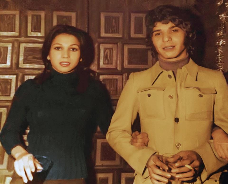 Tina (Las Grecas) y Camarón de la Isla, navidad de 1976.