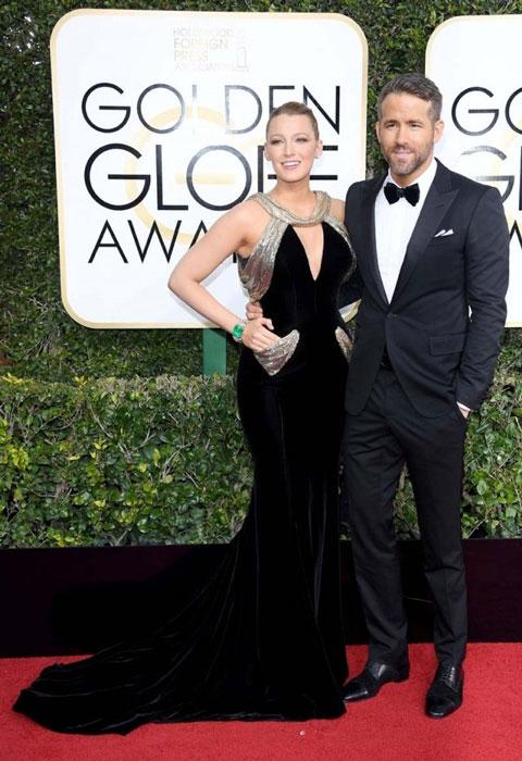 Blake Lively y Ryan Reynolds. Globos de Oro