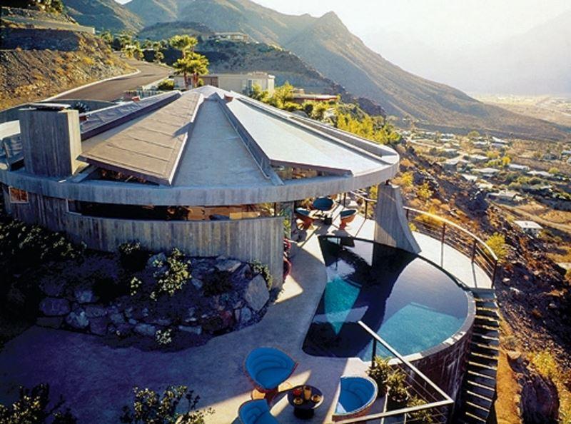 Casa Elrod del arquitecto americano John Lautner. © Fotografía Fundación J. Lautner.