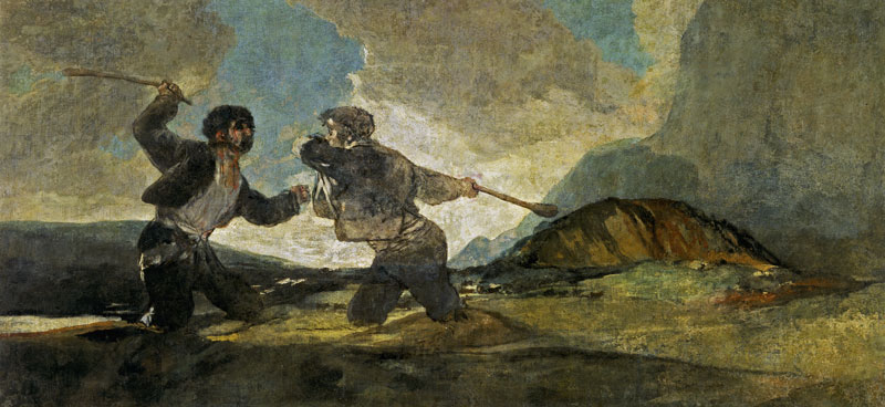 """""""Duelo a garrotazos"""", Goya"""