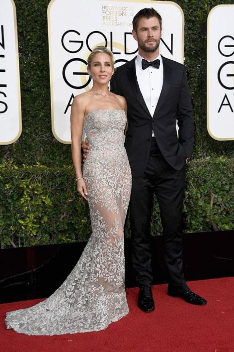 Elsa Pataky y Chris Hemsworth. Globos de Oro