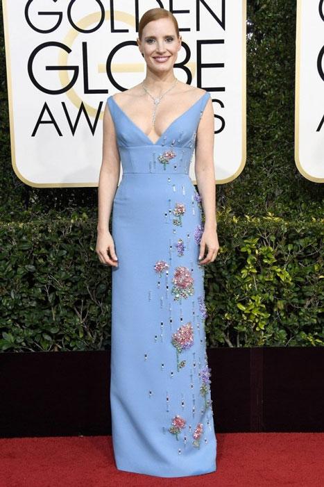 Jessica Chastain. Globos de Oro