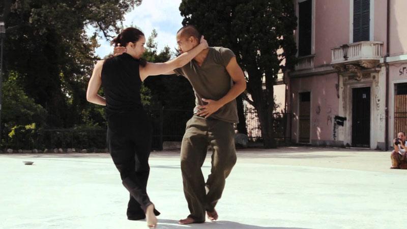 Laly Aiguadé y Nicolas Ricchini bailando juntos