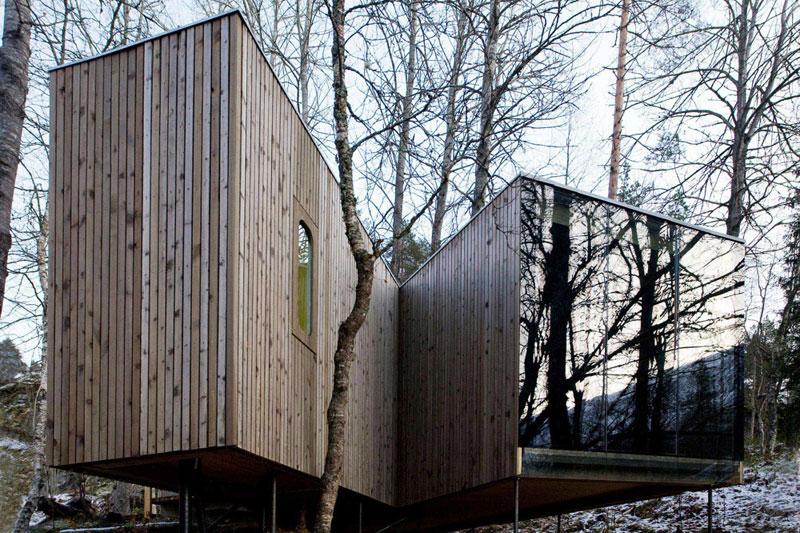 Hotel Juvet Landscape, valle Valldal (Noruega).  © Arquitectos Jensen & Skodvin.