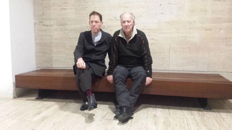 Werner Herzog y Paul Holdengräber: H+H. Foto: Jesús García Cívico