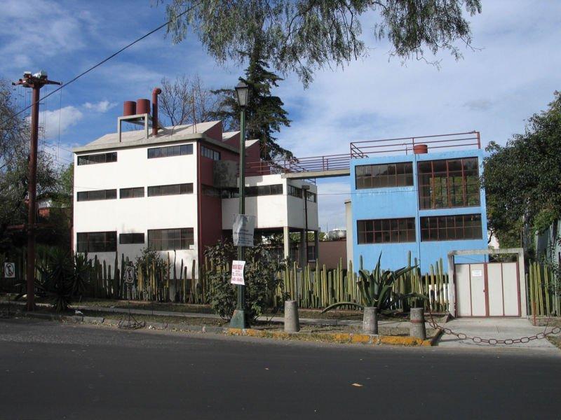 Casa estudio Frida Kahlo y Diego Rivera en México, arquitecto Juan O'Gorman.