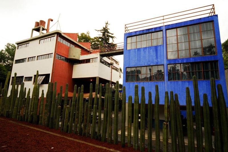 Casa estudio de Frida Kahlo y Diego Rivera. Arquitecto Juan o'Gorman