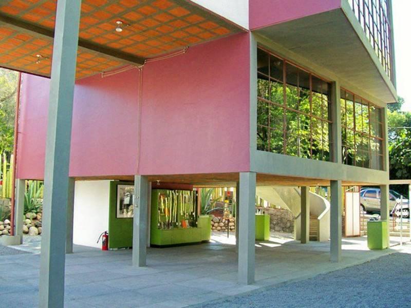 Casa estudio Frida Kahlo y Diego Rivera en México, arquitecto Juan O'Gorman. © Fotografía wikiarquitectura