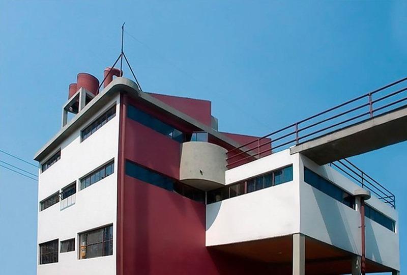 Casa estudio Frida Kahlo y Diego Rivera en México, arquitecto Juan O'Gorman. © Fotografía José Luis Parella.