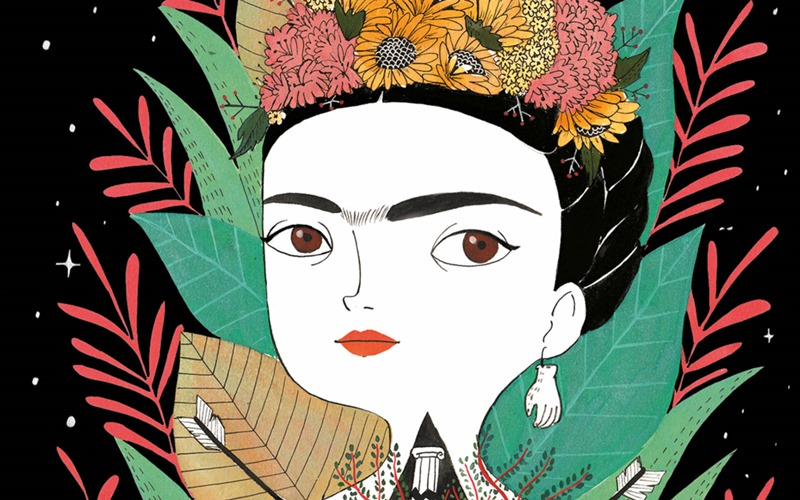Ilustración perteneciente al libro: Frida, una biografía de la ilustradora sevillana María Hesse