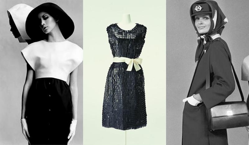 Vestidos minimalista, 1968. Vestido cóctel. Uniforme azafata de Air France, 1968.