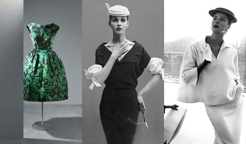 Vestido cóctel, 1961. Georgia Hamilton por Richard Avedon, 1953. Suzy Parker, 1953.