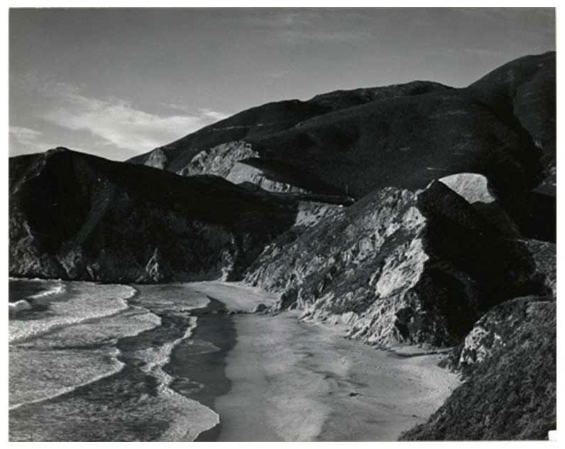 Cala Matchstick, condado de San Mateo, California, 12 de octubre de 1947 Impresión al gelatinobromuro de plata 7,36 x 9,36 cm