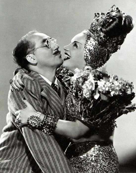 Groucho Marx y Carmen Miranda