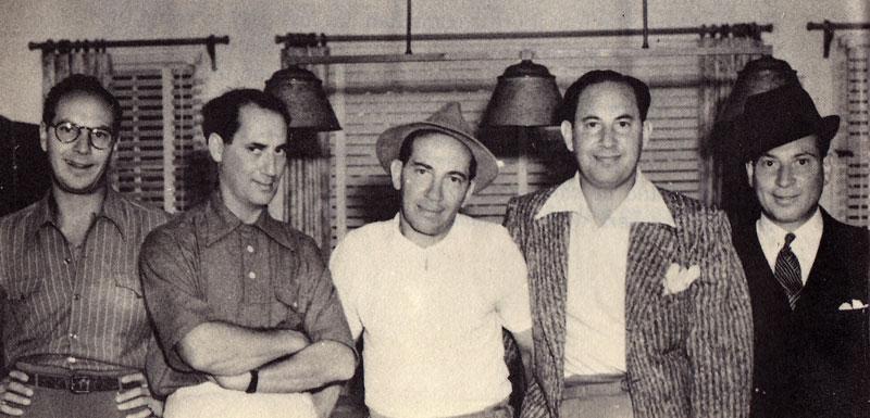 De izquierda a derecha: Zeppo, Groucho, Gummo y Harpo Marx.