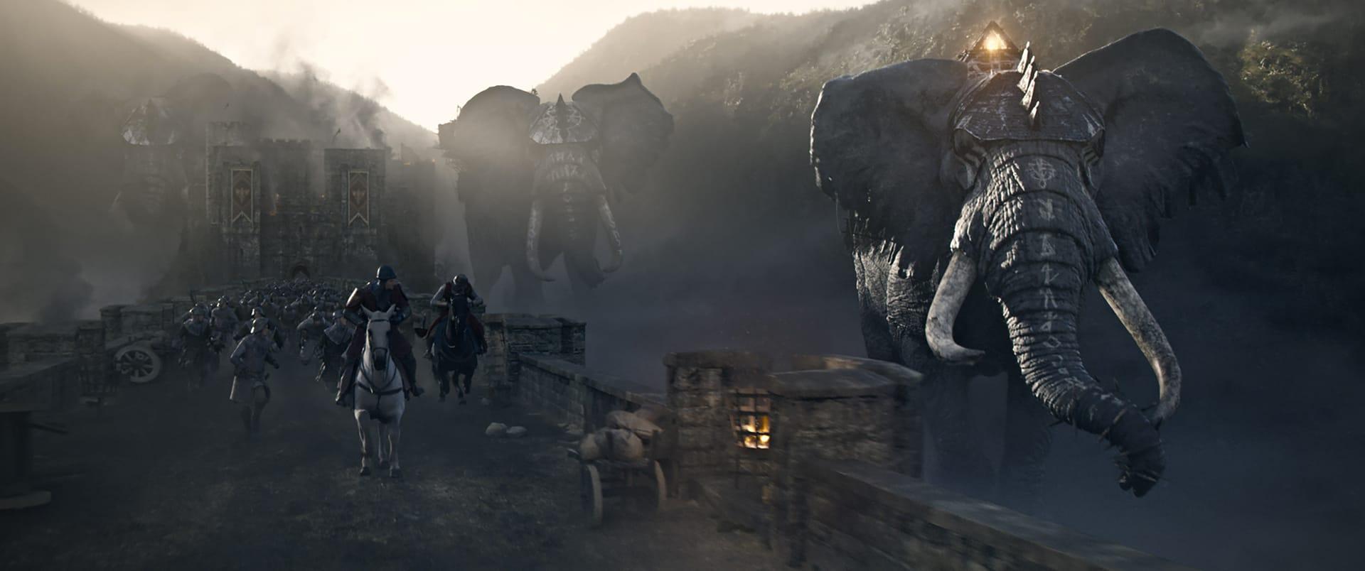 El arranque de la película, típica set piece del cine de acción actual