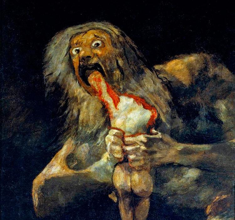 """""""Saturno devorando a su hijo"""". Francisco de Goya"""
