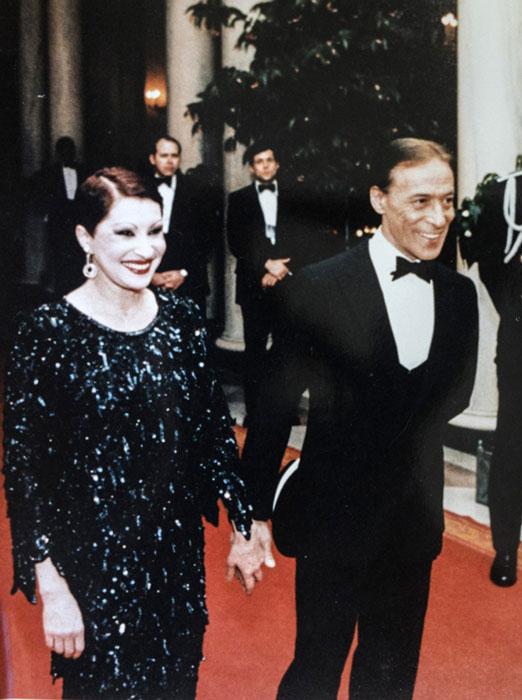 Rego y Copes, en el cumpleaños de Ronald Reagan en 1986