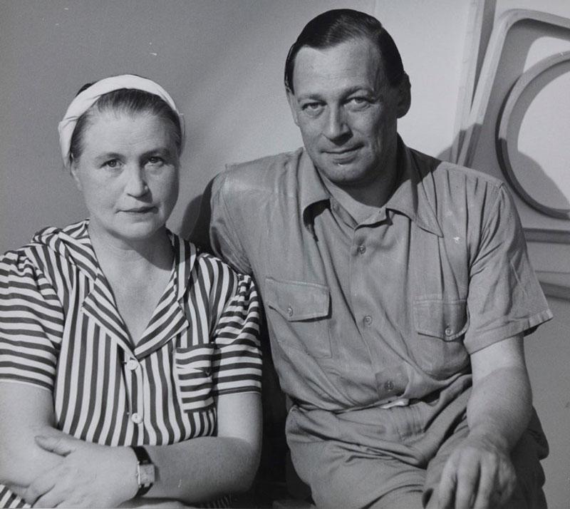 Aino Marsio y Alvar Aalto en Nueva York, 1940.