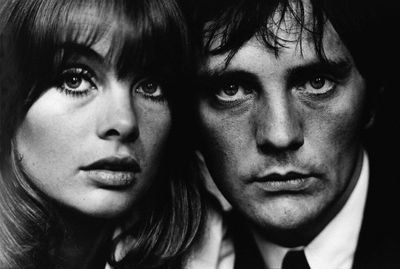 Jean Shrimpton y Terence Henry Stamp. Foto: Terry O'Neill, 1964