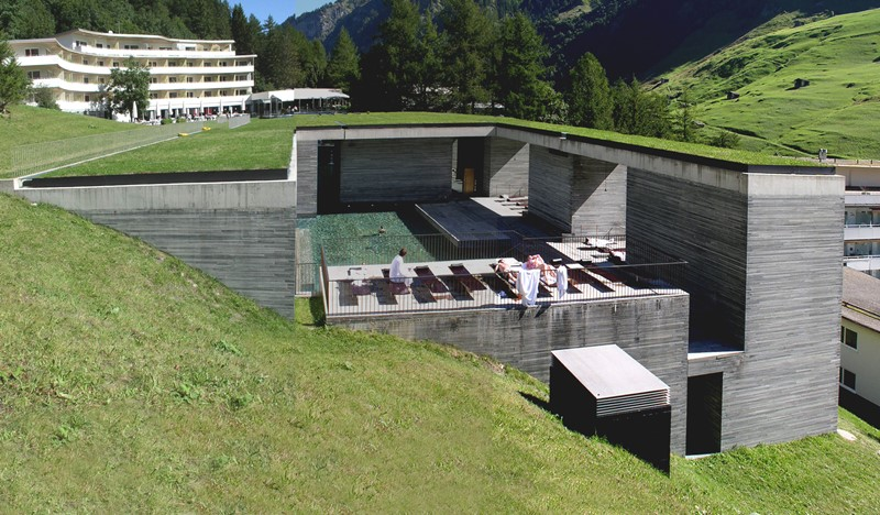 Termas de Vals (Suiza), Peter Zumthor arquitecto. © Olympus digital camera.