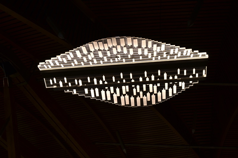 Arquitectura. Lámpara de la Cámara de debates del Parlamento de Edimburgo, arquitecto Enric Miralles. © Fotografía SJLL.
