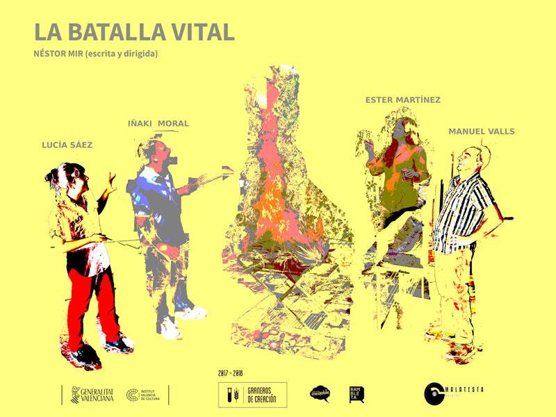 """Cartel.""""La batalla vital"""". Néstor Mir"""