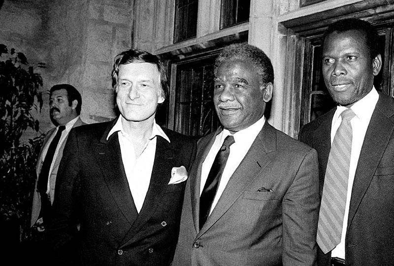 Hugh Hefner, Harold Washington y Sidney Poitier