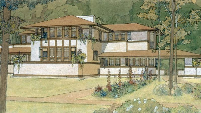 Marion Mahoney arquitecta. © Imagen de la Fundación Frank Lloyd Wright.