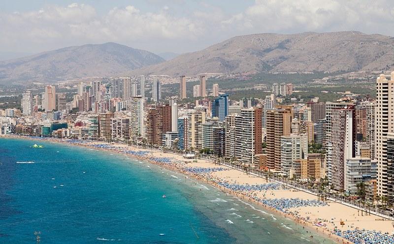 Playa de Levante, Benidorm (Alicante).