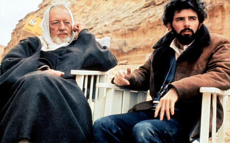 Alec Guinness y George Lucas