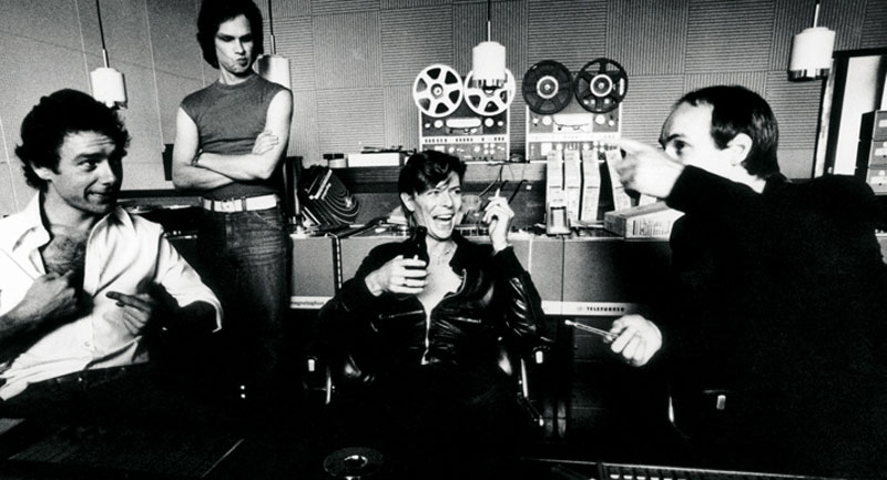David Bowie, Robert Tripp y Bryan Eno