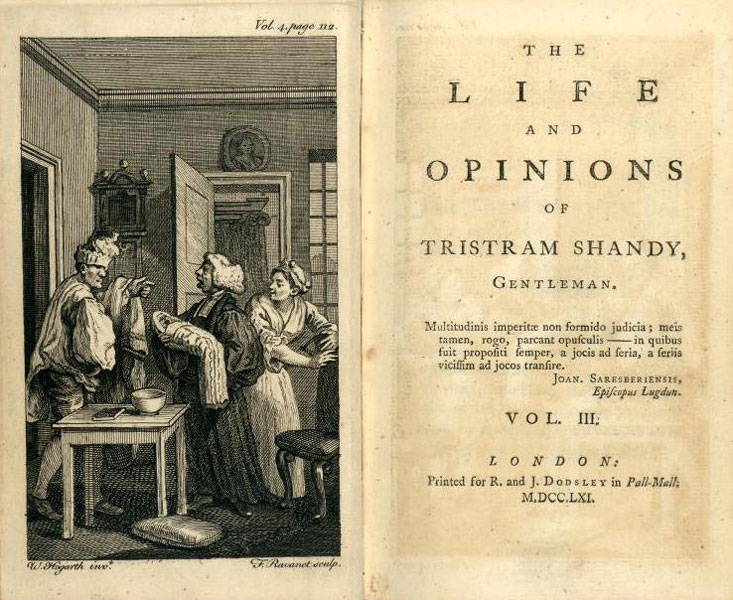 """The Life and Opinions of Tristram Shandy, Gentleman"". Laurence Sterne"
