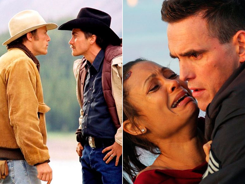 Brokeback Mountain (Ange Lee, 2005) y Crash (Paul Haggis, 2004)